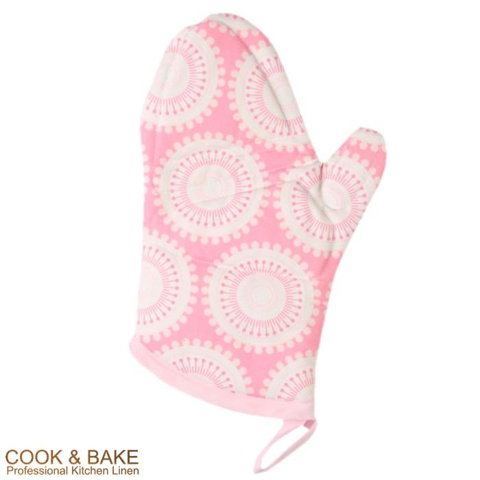 harga Cook & bake oven mitt / sarung tangan masak - circles pink Tokopedia.com