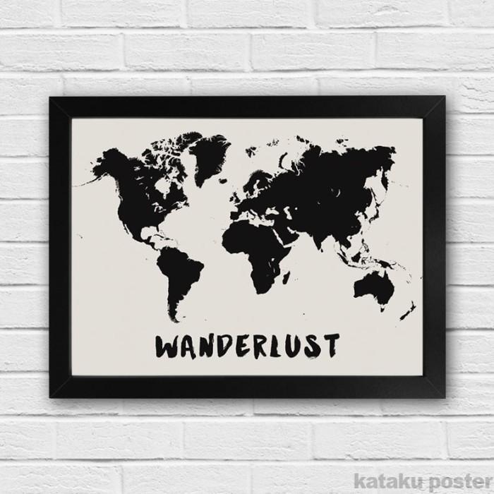 harga Poster peta dunia - wanderlust - dekorasi rumah Tokopedia.com