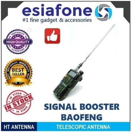 harga Esiatec steel antenna telescopic 400-470mhz - antena ht silver baofeng Tokopedia.com