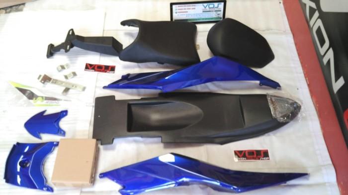 harga Body belakang model r25 new vixion bahan plastik abs biru Tokopedia.com