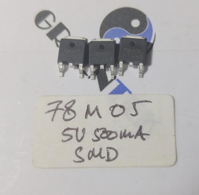 Foto Produk IC Regulator 3 pin Vout=5VDC 500mA, Vin=35V (D-PAK or TO-252) dari Greentek Surabaya