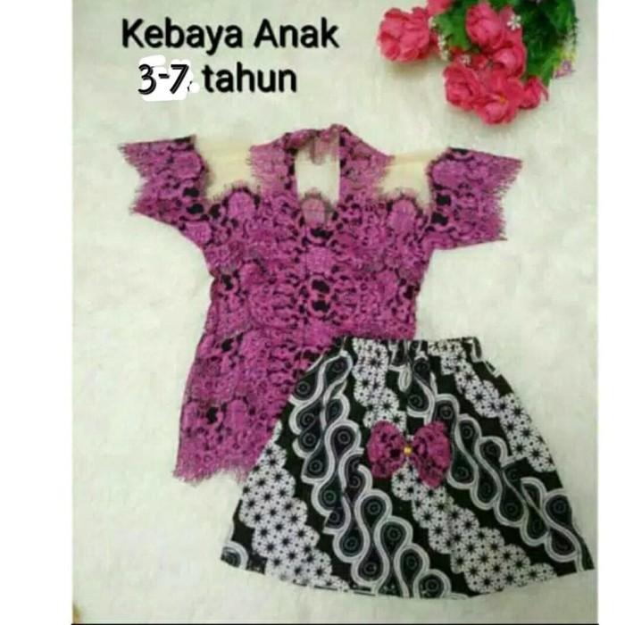 harga Baju setelan anak kostum tradisional jawa kebaya encim warna ungu Tokopedia.com