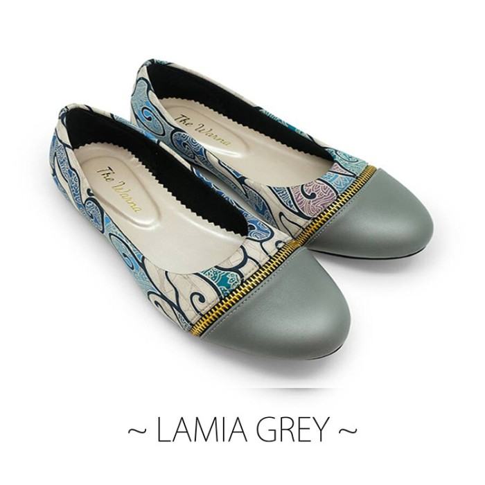 harga Flat shoes / sepatu wanita etnik batik tenun - lamia grey Tokopedia.com