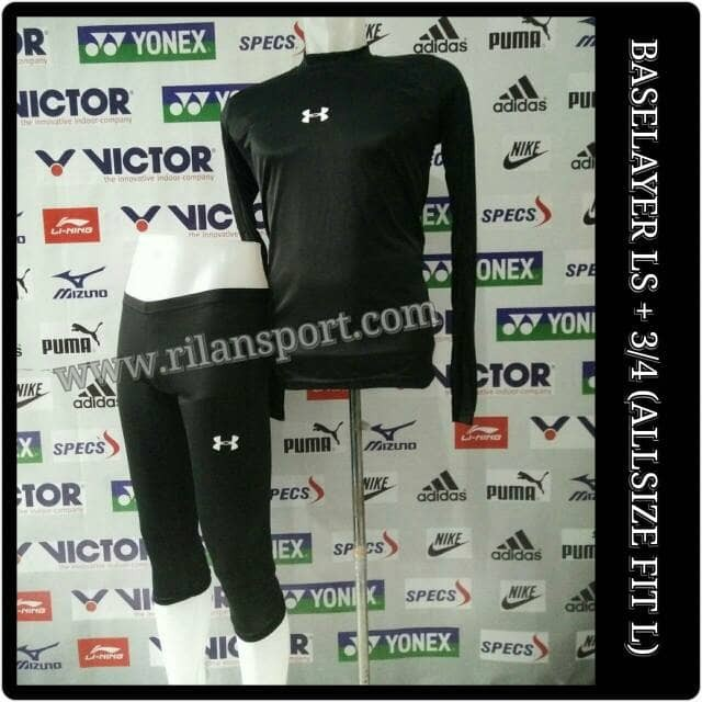 paket celana legging dan kaos base layer manset diving celana renang