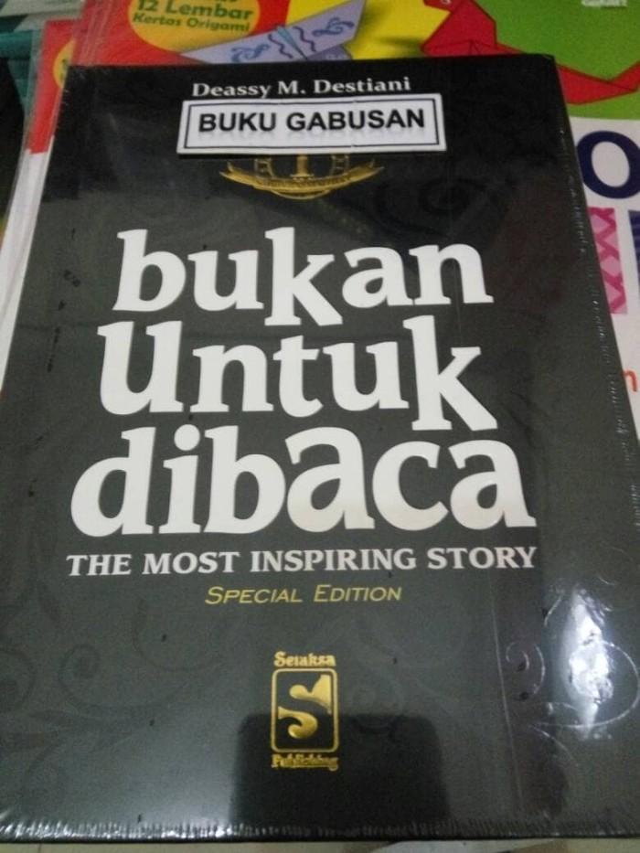 harga Buku bukan untuk dibaca 1 the most inspiring story - deassy m ar Tokopedia.com