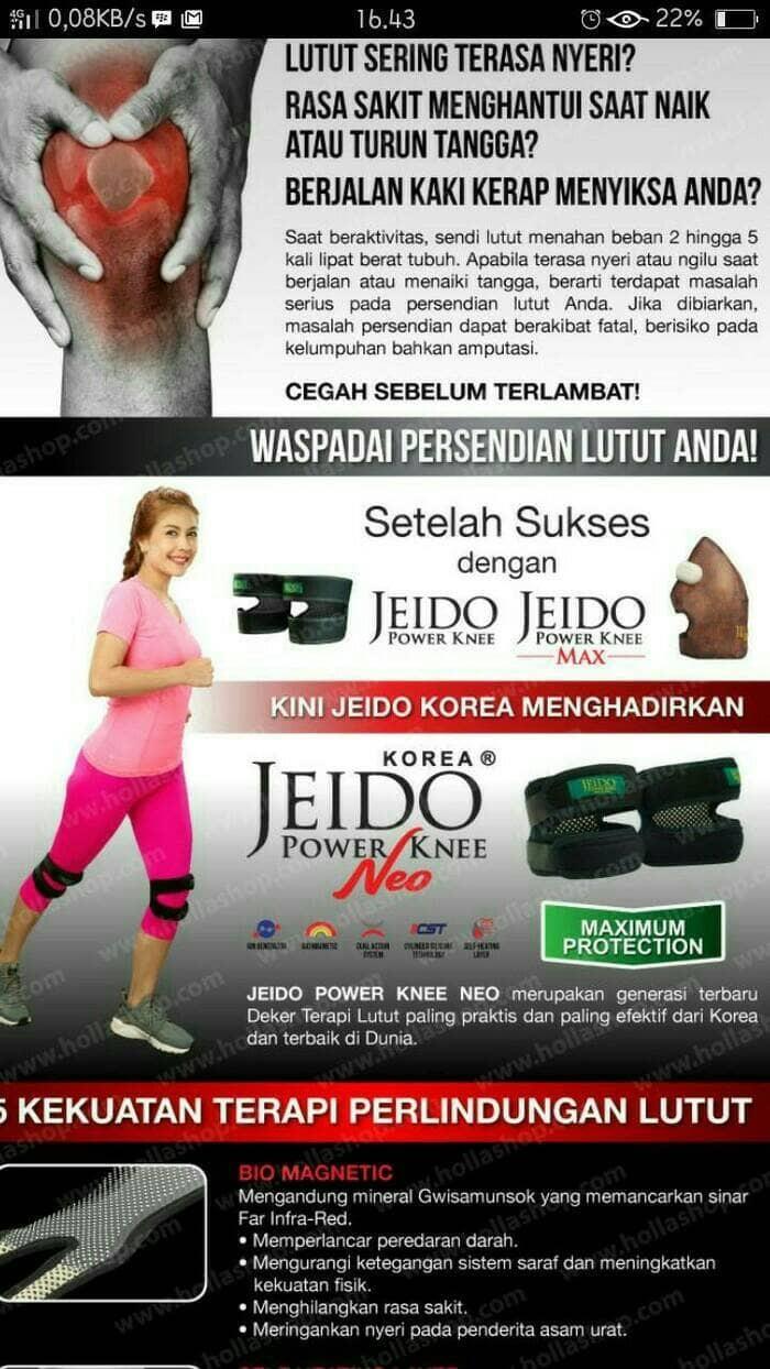 Jual Jeido Power Knee Neo Deker Lutut Morenoshop Tokopedia Support Dengan Magnet