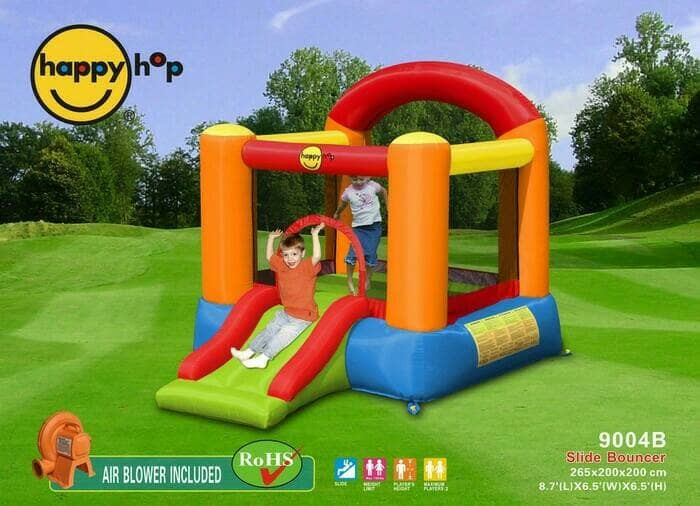 harga Happy Hop 9004b Rumah Istana Balon Trampolin Mainan Anak Tokopedia.com