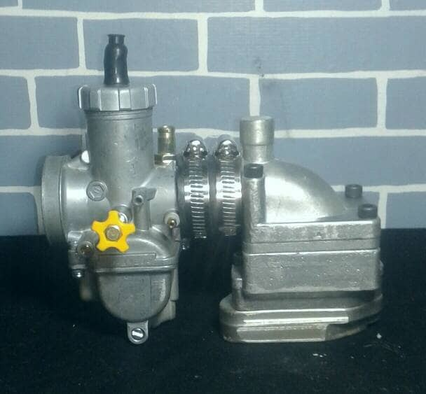harga Intake manifold vespa membran rx king + karburator pe 28 Tokopedia.com