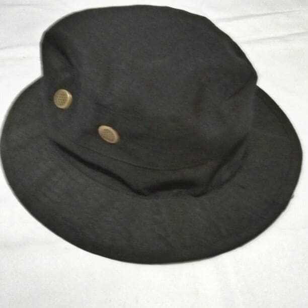 Topi rimba hijau army/hitam ripstop jungle hat green armyblack