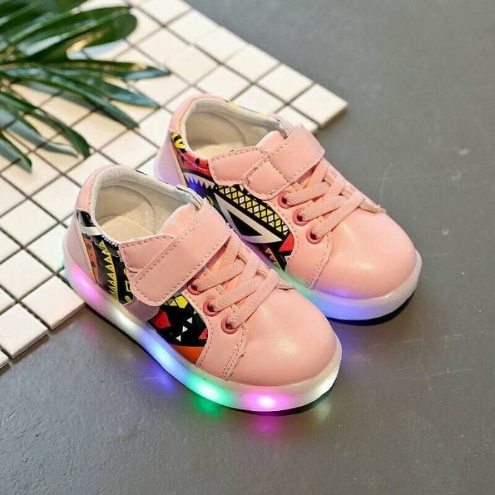 harga Etnik led pink / sepatu led / sepatu nyala / sepatu import Tokopedia.com