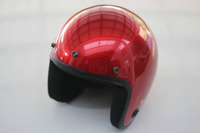 harga Harga promo - helm retro half face - bukan bogo bukan cargloss -maroon Tokopedia.com