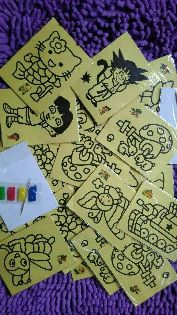 Jual Kertas Mewarnai Dengan Pasir Warna Medium Size Mainan Edukasi Anak Jakarta Timur ANIMATOYS SHOP