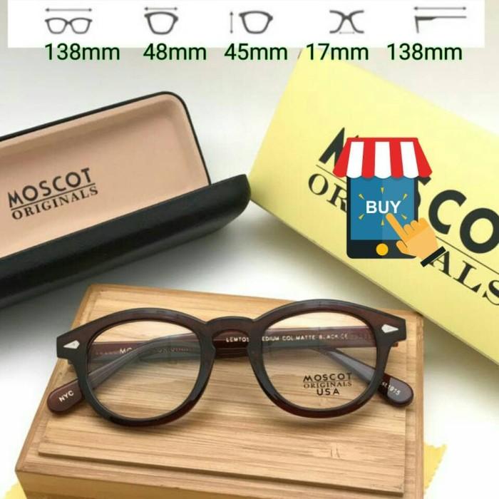 Frame Kacamata Moscot Lemtosh USA Brown Kacamata Minus Baca Murah Gaya 1eb179ace8