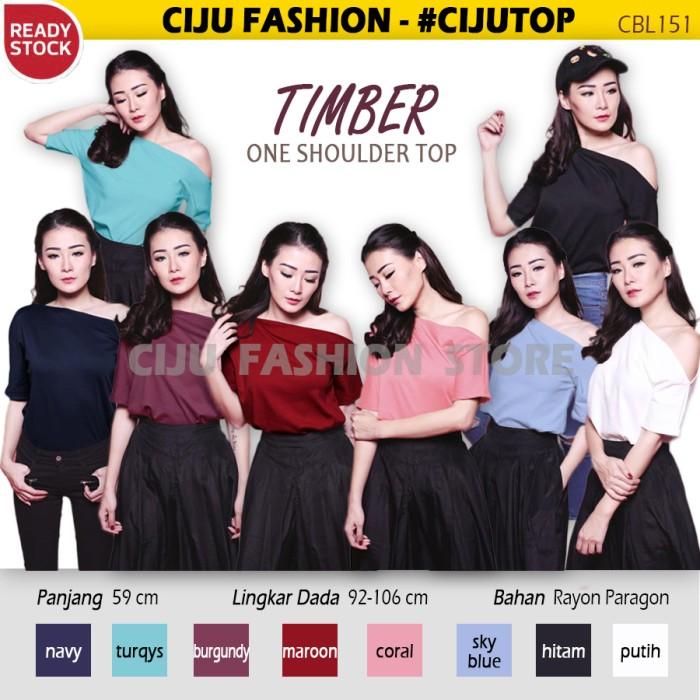 harga Timber one shoulder top atasan blouse wanita (cbl151) Tokopedia.com