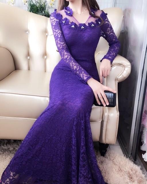 harga Long dress 9715-5/ baju pesta/baju muslim/ baju brokat impor Tokopedia.com