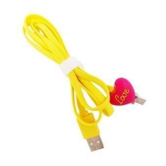 Mediatech kabel micro karakter samsung/blackberry led kuning ( 64976 )