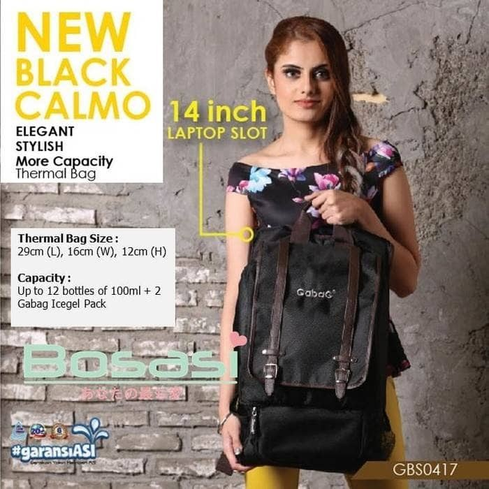 Coolerbag gabag new black calmo cooler bag gabag new calmo tas asi