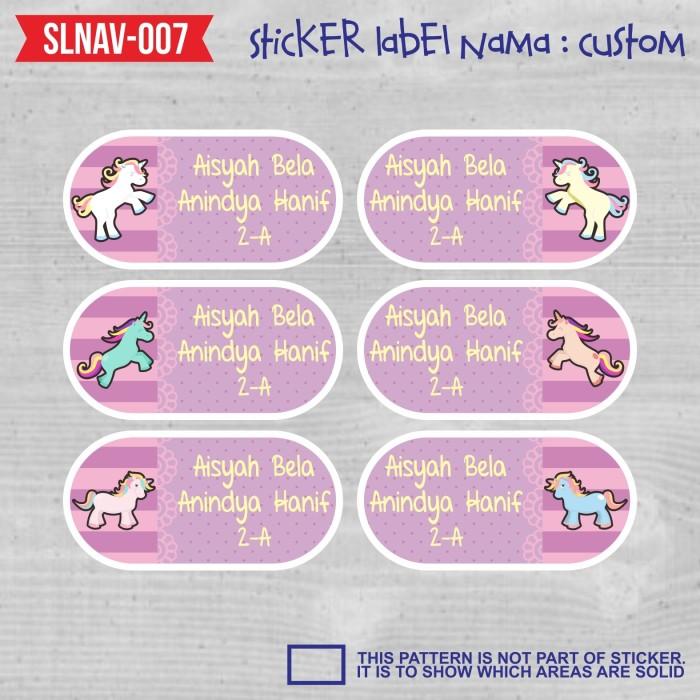 Jual Sticker Label Nama Anak Kartun Kuda Pony Little Girl Fairy Slnav 007 Kab Tangerang Galerimungil Tokopedia