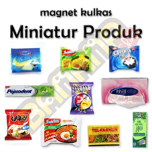 harga Magnet kulkas - miniatur produk (paket 4) Tokopedia.com