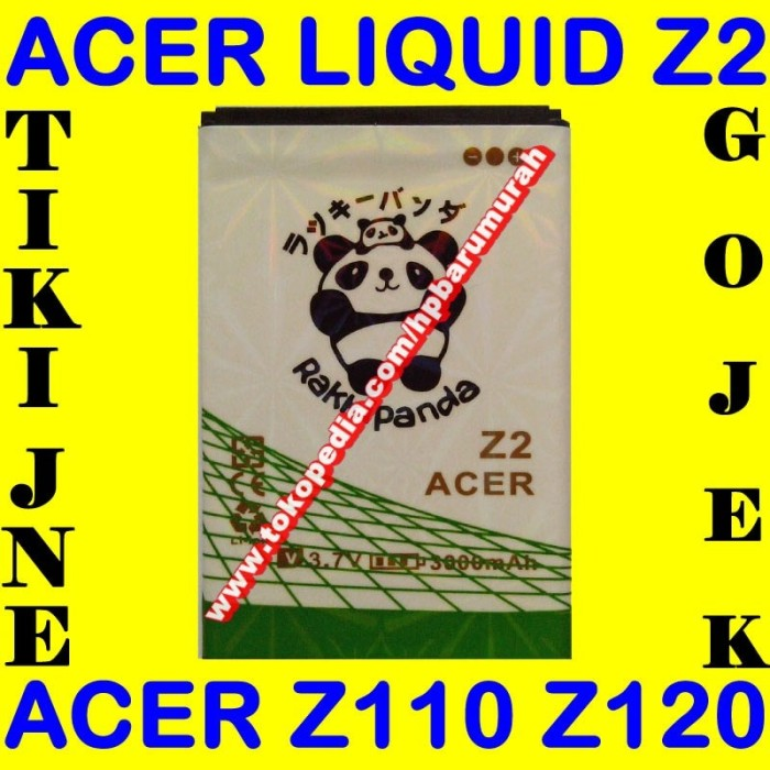 Baterai Batrai Batere Batre Acer Liquid Z2 Z120 Rakki Panda