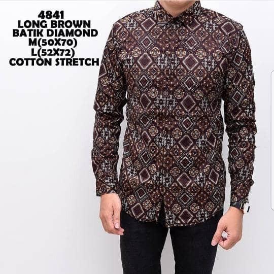 Jual Kemeja Baju Batik Pria Model Terbaru Model Super Keren Brown Diamond Kab Tangerang Kemeja Slim Fit Tokopedia