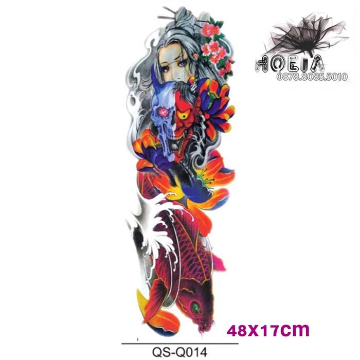 harga Qb-3019 44x17cm - Temporary Tattoo - Tato Stiker Mesin Ukuran Lengan Tokopedia.com