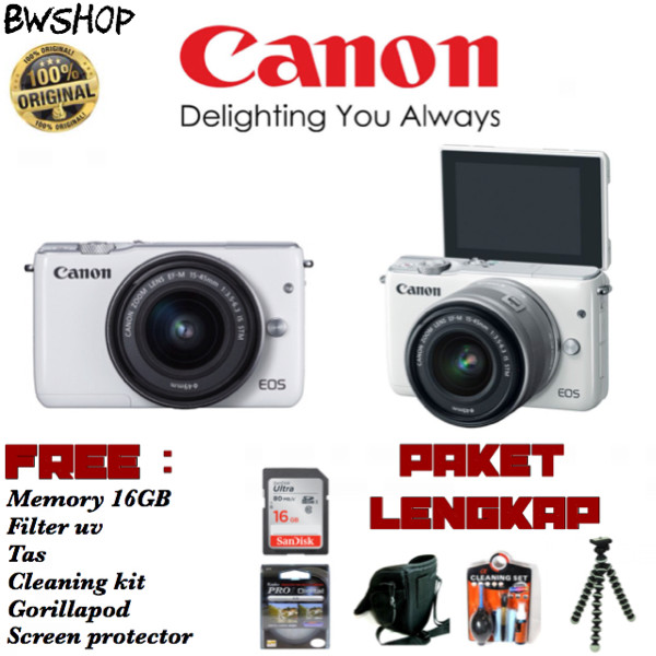 harga Canon eos m10 15-45 f/3.5-6.3 is stm Tokopedia.com