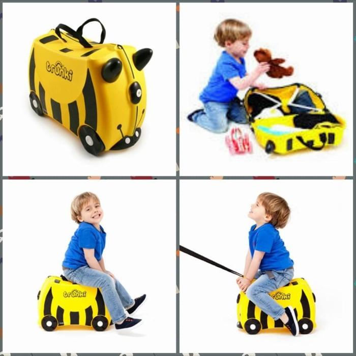 Tas Koper Unik Trunki - Tas Trolly - Tas yang bisa di duduki anak