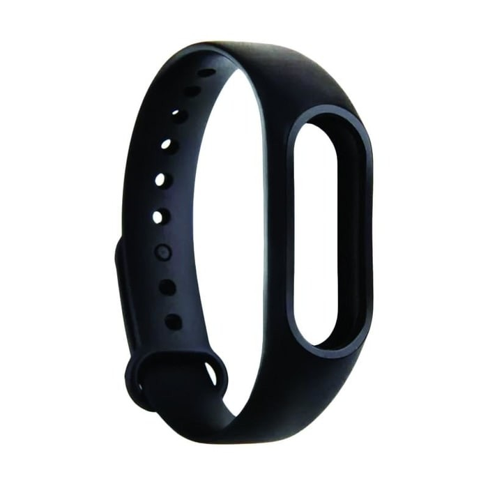 BARU - STRAP GELANG TPU REPLACEMENT XIAOMI MI BAND 2 LCD OLED BLACK