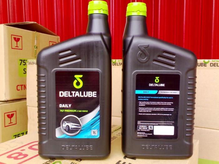 harga Deltalube 757 premium-oli mobil bensin - 10w40 -1 ltr -100% original Tokopedia.com