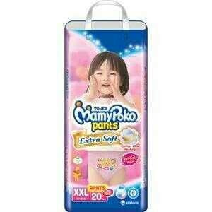 harga Mamy Poko Extra Soft Xxl20 Girl Tokopedia.com