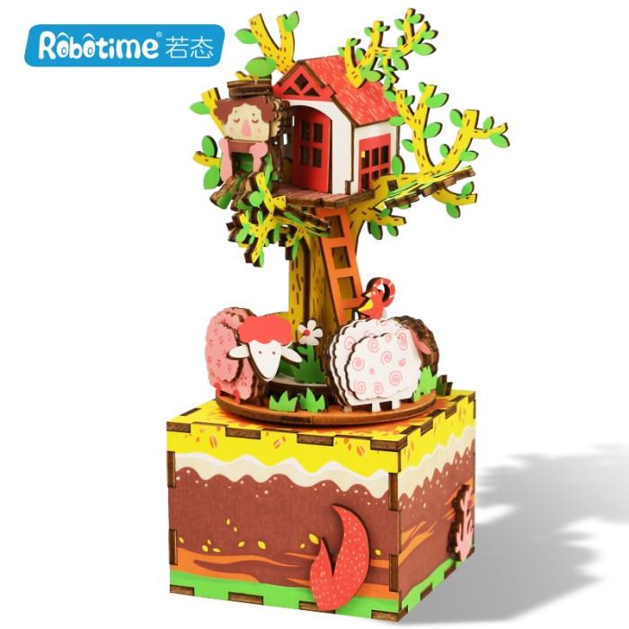 harga Robotime diy music box series tree house am408 - multicolor Tokopedia.com