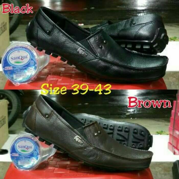 Jual sepatu casual slip on kulit asli lacoste cek harga di PriceArea.com be636fd221