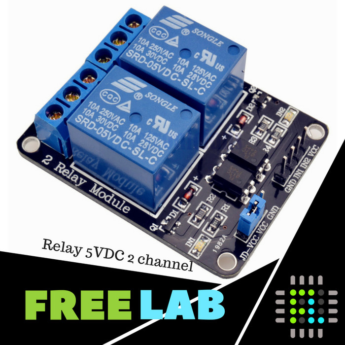 Jual relay channel for arduino freelab tokopedia