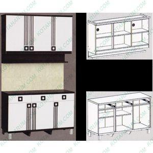 Jual Kitchen Set Lemari Dapur 3 Pintu Atas Bawah 2553 Graver