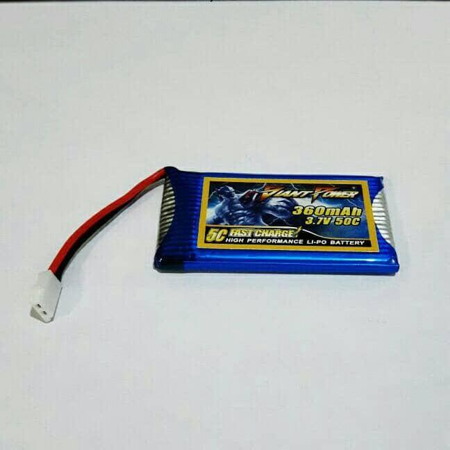 harga Giant power 360mah 1s 3.7v 50c nano-tech lipo battery nano li-po Tokopedia.com