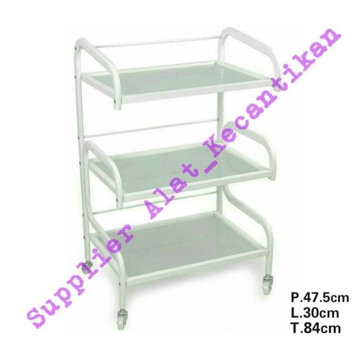 harga Rak trolley facial glass/trolley kaca dy-3 Tokopedia.com
