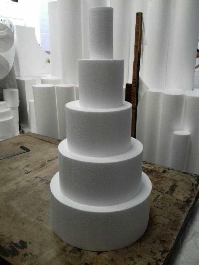 Jual D30x75cm Gabus Kue Styrofoam Dummy Cake Kenz Tokopedia - Harga Dummy Wedding Cake