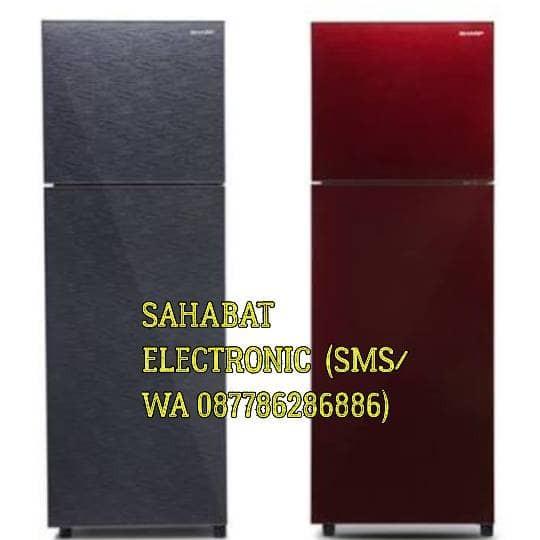 harga Kulkas 2 Pintu Sharp Sj 246 Xg (grey/red) Tokopedia.com
