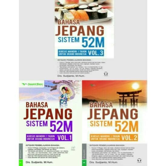 Foto Produk Paket Buku Belajar Bahasa Jepang Sistem 52M Vol. 1 , 2 & 3 + CD Audio dari Astuti-shop