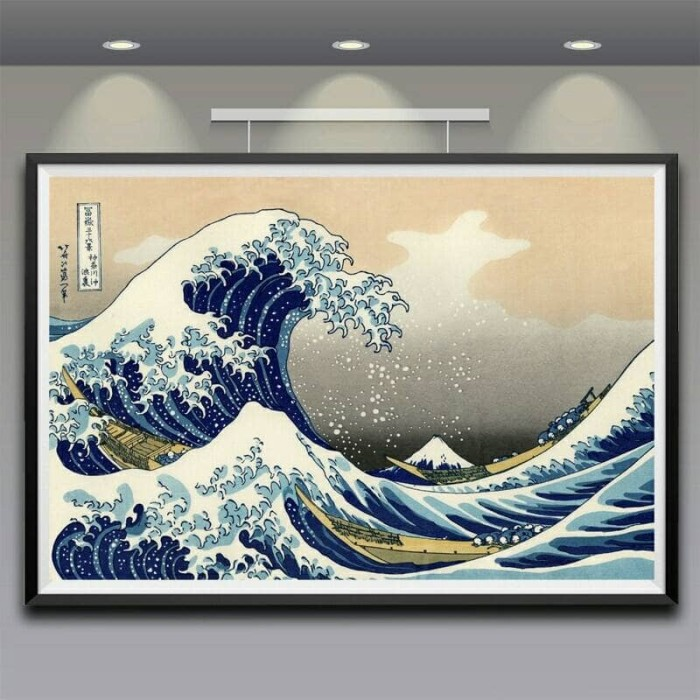 harga Artwork 80 x 120 cm katsushika hokusai great wave off kanagawa Tokopedia.com