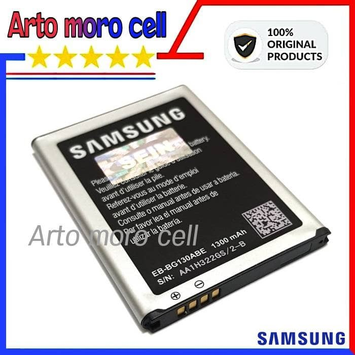 Baterai Samsung Galaxy Young 2 G130H 1300mAh ORIGINAL 100% SEIN .