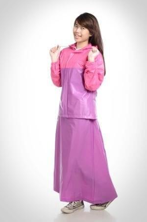 harga Jas hujan rok valencia . bentuk setelan utk perempuan wanita muslimah - ungu Tokopedia.com