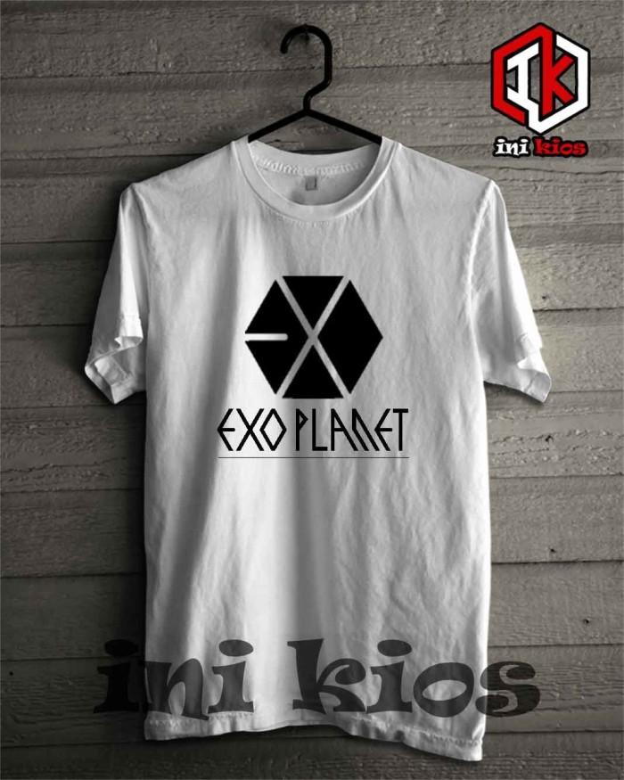 harga T-shirt/baju/kaos/exo planet terbaru simple keren / inikios Tokopedia.com