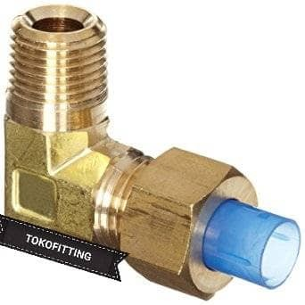 1//8 to 6mm Elbow Compression Connector air fluid
