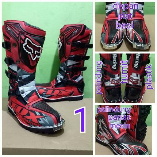 harga Sepatu cross sepatu trail sepatu mx fox print 01 Tokopedia.com