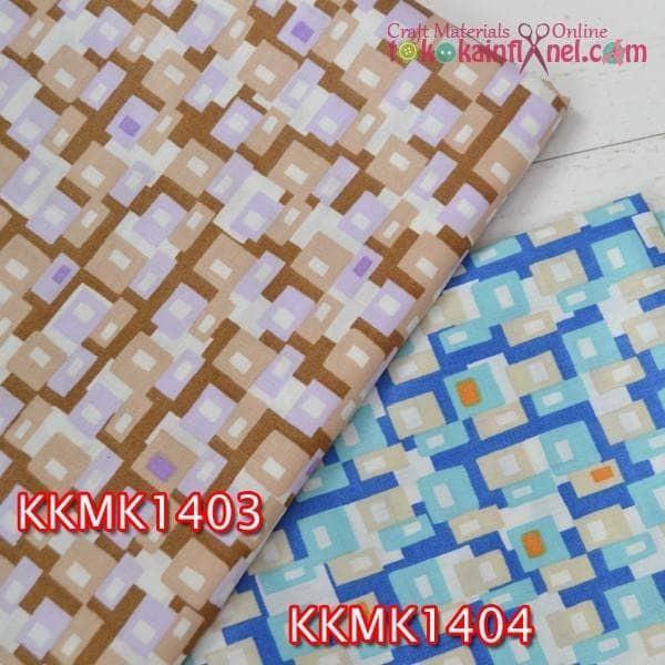harga Kkmk14 kain katun jepang motif kotak 2 warna uk. 2.5m x 115cm Tokopedia.com