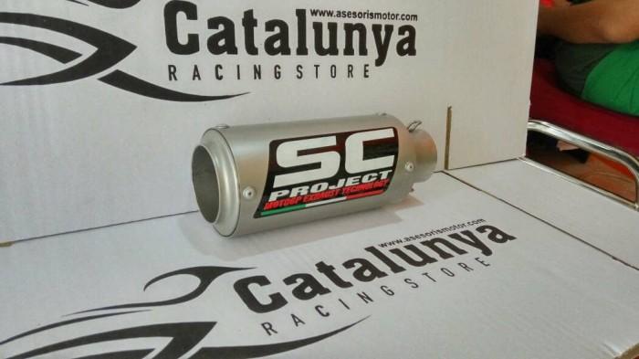 harga Knalpot racing sc project gp cr-t titanium sandblasting racing custom Tokopedia.com