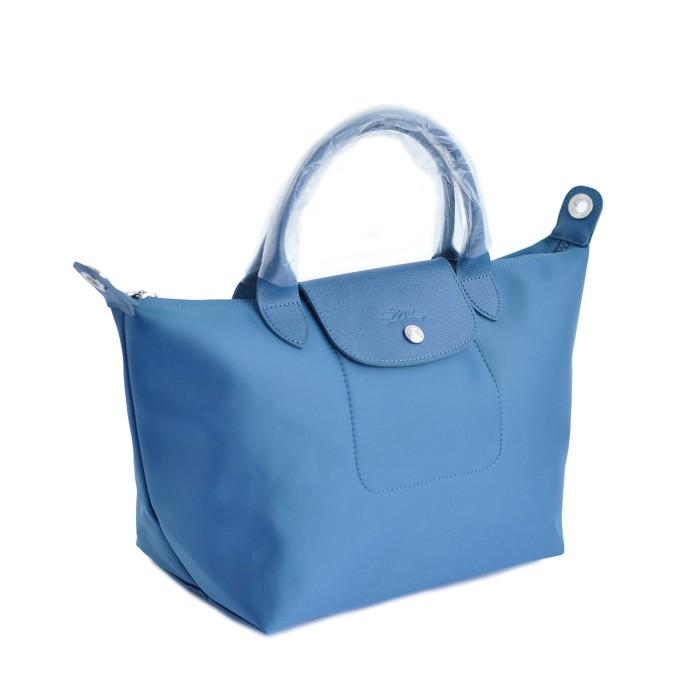 TAS WANITA AUTHENTIC LONGCHAMP LE PLIAGE NEO SMALL PEACOCK BLUE .