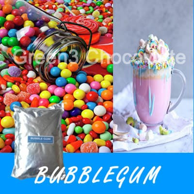 BUBBLE GUM Powder Drink / Bubuk Minuman Rasa